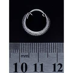 Серьга, кольцо пиратское с узором (eas-042)