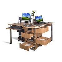 """Двух местный угловой компьютерный стол """"Ньюпорт"""""""