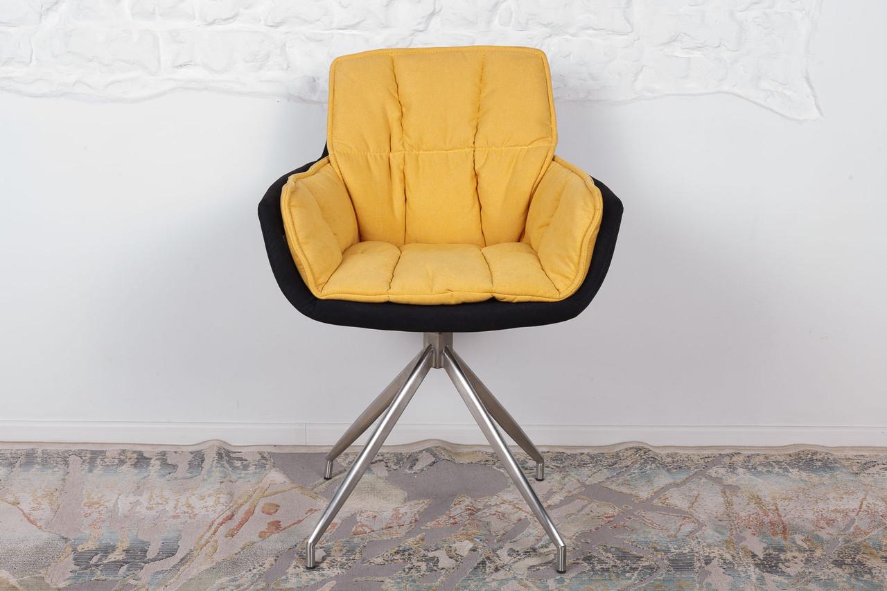 Крісло поворотне Palma, чорно-жовтий