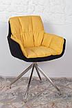 Крісло поворотне Palma, чорно-жовтий, фото 4