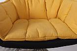 Крісло поворотне Palma, чорно-жовтий, фото 5