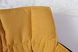 Крісло поворотне Palma, чорно-жовтий, фото 6