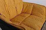 Крісло поворотне Palma, чорно-жовтий, фото 7