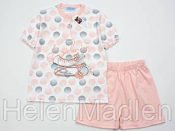 Пижама Gary бело-персиковая 285079