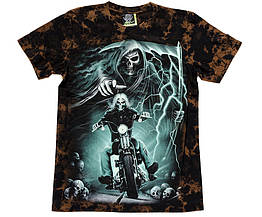 Футболка Смерть с косой (Death Rider) светится в темноте, Размер S