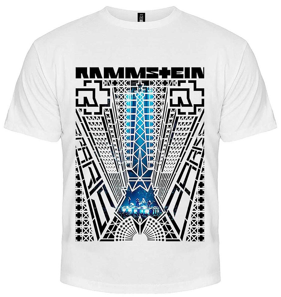 fefb751b3f9a8 Белая футболка Rammstein с принтом