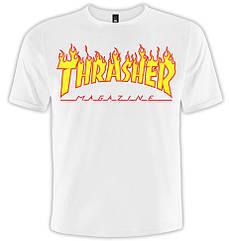 Футболка Thrasher (белая футболка), Размер XXL