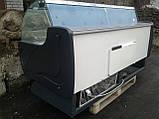 Холодильная витрина 2 м. Технохолод б/у, холодильный прилавок б/у, гастрономическая витрина б у, фото 7
