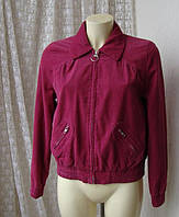 Куртка жакет женская розовая фуксия вельвет Divided H&M р.46-48