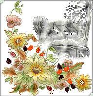Набор для вышивания Идейка Осенний день (ide_H351) 27×28 см