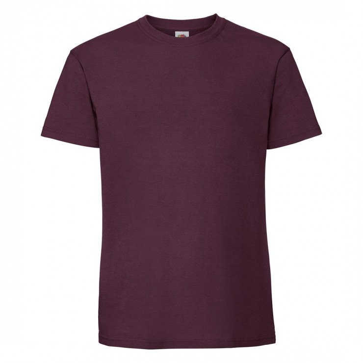 Мужская футболка плотная бордовая 422-41