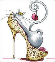 Набор для вышивания Идейка Модная кошка 1 (ide_J044(1)) 36×40 см