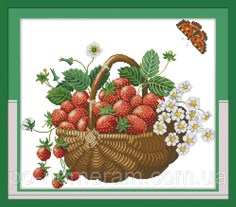 Вышивание крестиком Идейка Корзина с ягодами (ide_J048) 47 х 42 см