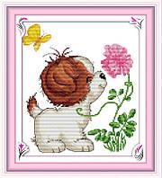 Набор для вышивки Идейка Веселый песик (ide_K036) 27 х 29 см