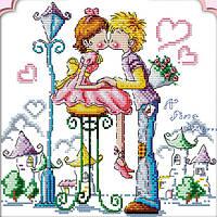 Картина вышивка крестом Идейка Сказочная любовь (ide_K044) 35×35 см