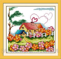 Набор для вышивки Идейка Сельский домик (ide_K062) 34 х 33 см