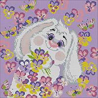 Картина вышивка крестом Идейка Белый кролик 2 (ide_K176) 39×39 см