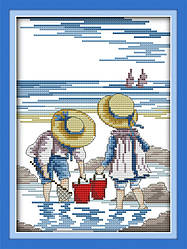 Вышивание крестиком Идейка Игры на море (ide_K209) 28 х 35 см