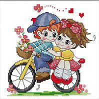 Набор для вышивки Идейка Вдвоём на велосипеде (ide_K402) 34×33 см