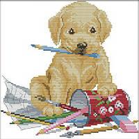 Набор для вышивания Идейка Давай поиграем (ide_K477) 27×27 см