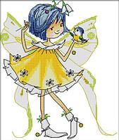 Картина вышивка крестом Идейка Маленькая фея (ide_K484) 33×37 см