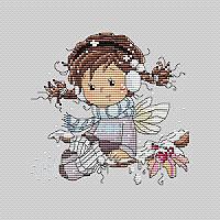 Набор для вышивания Идейка Зимние забавы (ide_K557) 24×23 см