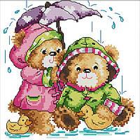 Вышивка крестом Идейка Под дождём (ide_K566) 32×32 см