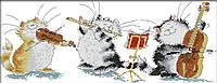 Набор для вышивания Идейка Кошачье трио (ide_K570) 64×27 см