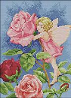 Вышивание крестиком Идейка Фея цветов (ide_K588) 32×40 см