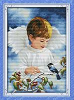 Набор для вышивания Идейка Ангел и птичка (ide_R265(1)) 46 х 64 см