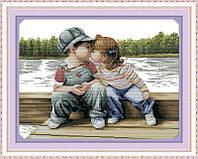 Набор для вышивания Идейка Первый детский поцелуй (ide_R290) 61 х 47 см