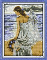 Набор для вышивания Идейка Девушка на побережье (ide_R358) 42 х 52 см