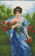 Набор для вышивания Идейка Дама с цветами (ide_R423) 50×74 см