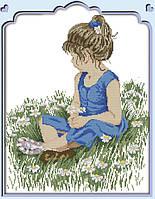 Картина вышивка крестом Идейка В цветочном поле (ide_R486) 40×47 см