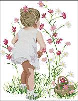 Набор для вышивания Идейка Собирая цветы (ide_R505) 37×44 см