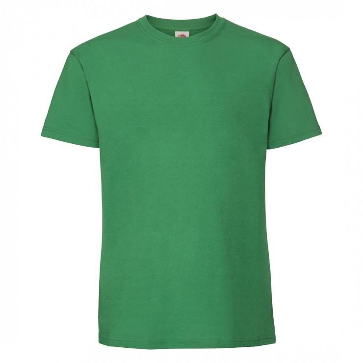 Мужская футболка плотная зеленая 422-47