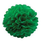 Помпон бумажный (зеленый) 070316-006