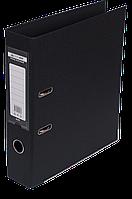 Папка-регистратор Buromax Elite А4 PVC 70 мм чёрный