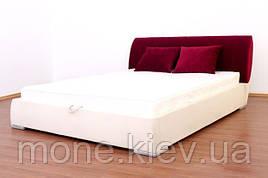"""Кровать """"Морель"""" двуспальная с мягким изголовьем и с подъемным механизмом+ 2 подушки"""
