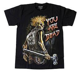 Футболка Punks Not Dead - You are Dead (светится в темноте), Размер M