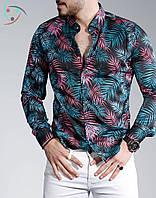 Стильная мужская рубашка с длинным рукавом из Турции, новинка 2019 года