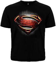 "Черная футболка Superman ""Man of Steel"", Размер M"