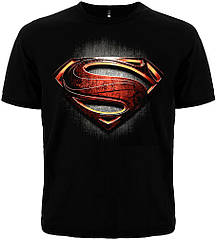"Черная футболка Superman ""Man of Steel"", Размер S"