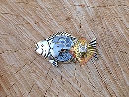 Брошь Рыба (стимпанк)