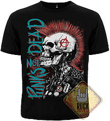 Футболка Punk's Not Dead (скелет с ирокезом), Размер XL