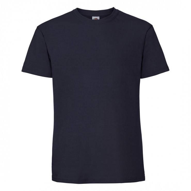 Мужская футболка плотная темно синяя 422-АЗ