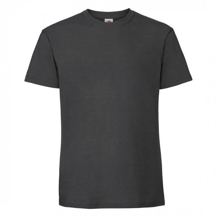 Мужская футболка плотная темно серая 422-ГЛ