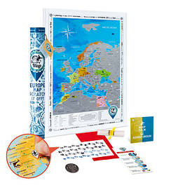 Cкретч карта Европы EUROPE  на английском размер 48 х 68 см