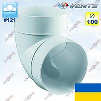 Отвод 90 (колено) для круглых каналов ПЛАСТИВЕНТ, фото 1