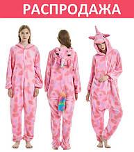 Пижама кигуруми единорог. Звездный единорог розовый